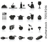 food icon set | Shutterstock .eps vector #70519246
