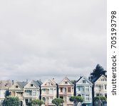 Small photo of Seven Sisters Victorian houses in Alamo Square