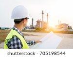 engineers working in a...   Shutterstock . vector #705198544