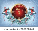 christmas chimes with... | Shutterstock .eps vector #705200944