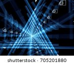 tech background   blue triangle ... | Shutterstock . vector #705201880