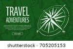 template of travel banner with...   Shutterstock .eps vector #705205153