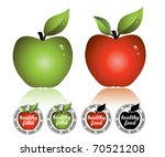 apple stickers for healthy food....