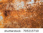 cracked paint on an old... | Shutterstock . vector #705215710