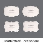 Stock vector set of vintage labels old fashion banner illustration vector 705220900