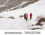 trekking nepal annapurna base... | Shutterstock . vector #705222700