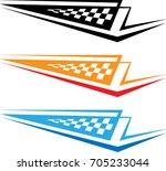 vehicle graphics  stripe  ... | Shutterstock .eps vector #705233044