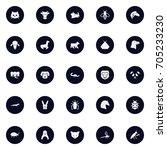 set of 25 animal icons set... | Shutterstock .eps vector #705233230