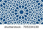 blue islamic pattern . seamless ... | Shutterstock .eps vector #705234130