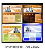 set of web sites templates | Shutterstock .eps vector #70523602