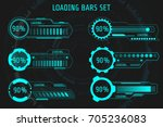 hud futuristic element loading... | Shutterstock .eps vector #705236083