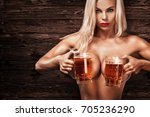 young sexy and naked... | Shutterstock . vector #705236290