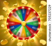 realistic 3d spinning fortune... | Shutterstock .eps vector #705237229