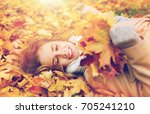 season and people concept  ... | Shutterstock . vector #705241210
