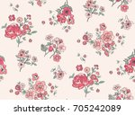 Seamless Trendy Floral Pattern in Vector