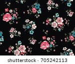 Stock vector seamless trendy floral pattern in vector 705242113