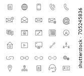 30 line contact icons | Shutterstock .eps vector #705245836