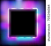 colorful neon square frame on a ...   Shutterstock . vector #705246064