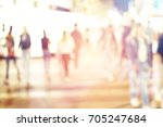 abstract blur people background | Shutterstock . vector #705247684