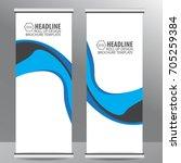roll up business brochure flyer ... | Shutterstock .eps vector #705259384