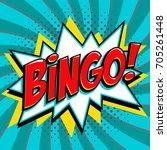 bingo lottery poster. lottery... | Shutterstock .eps vector #705261448