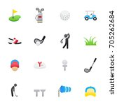 golf icons. set of sport icons  ... | Shutterstock .eps vector #705262684