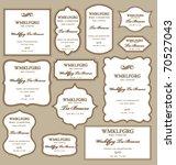 set of frames design elements.... | Shutterstock .eps vector #70527043