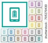 mobile battery status flat... | Shutterstock .eps vector #705270430
