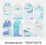 hand drawn creative tags.... | Shutterstock .eps vector #705274273