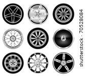 sporty aluminum wheel vector | Shutterstock .eps vector #70528084