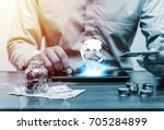 technology network and online... | Shutterstock . vector #705284899