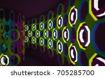 abstract interior of the future ... | Shutterstock . vector #705285700