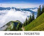 scenic view of the swiss alps... | Shutterstock . vector #705285703