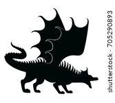 vector silhouette of dragon... | Shutterstock .eps vector #705290893