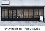 Front View Cafe Shop  ...