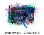 creative universal floral... | Shutterstock .eps vector #705301510