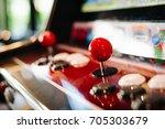 arcade machine. game arcade... | Shutterstock . vector #705303679