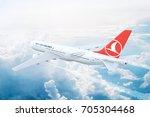 istanbul  turkey   august 17  ... | Shutterstock . vector #705304468