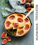 pie with figs. | Shutterstock . vector #705314236