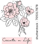 Flower And Slogan Print. For T...