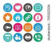 set of communication ... | Shutterstock .eps vector #705322534