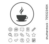 coffee cup sign icon. hot... | Shutterstock .eps vector #705323404