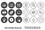 computer devices icons. printer ... | Shutterstock .eps vector #705324010