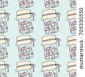 Pattern Jar Candy Doodle Vector