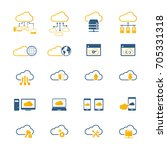 cloud computing icon set.... | Shutterstock .eps vector #705331318