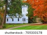 historic church in royalton ... | Shutterstock . vector #705333178