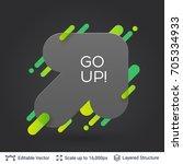 black badge arrow sticker....   Shutterstock .eps vector #705334933