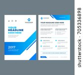 blue brochure annual report... | Shutterstock .eps vector #705336898