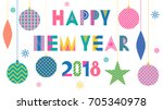 stylish greeting card. happy... | Shutterstock .eps vector #705340978