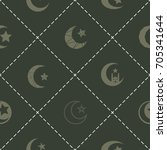 seamless pattern with symbol of ... | Shutterstock .eps vector #705341644